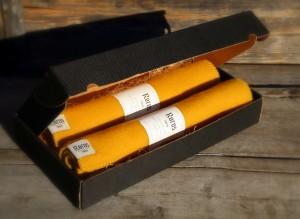 sitteunderlag ull Røros Tweed gul & gul | ullvotten.no