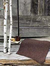 tovet sitteunderlag Røros Tweed Stemor brun |ullvotten.no